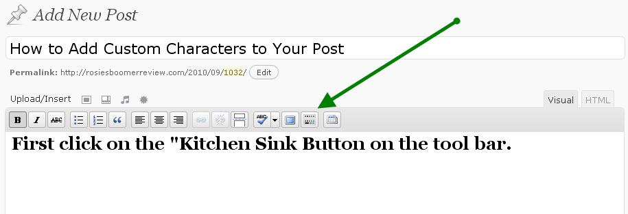How to add a custom character to your blog