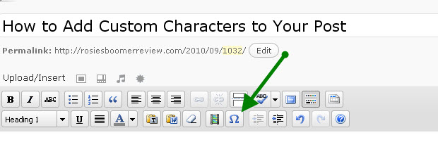 How to Add Custom Characters to Your Blog Post